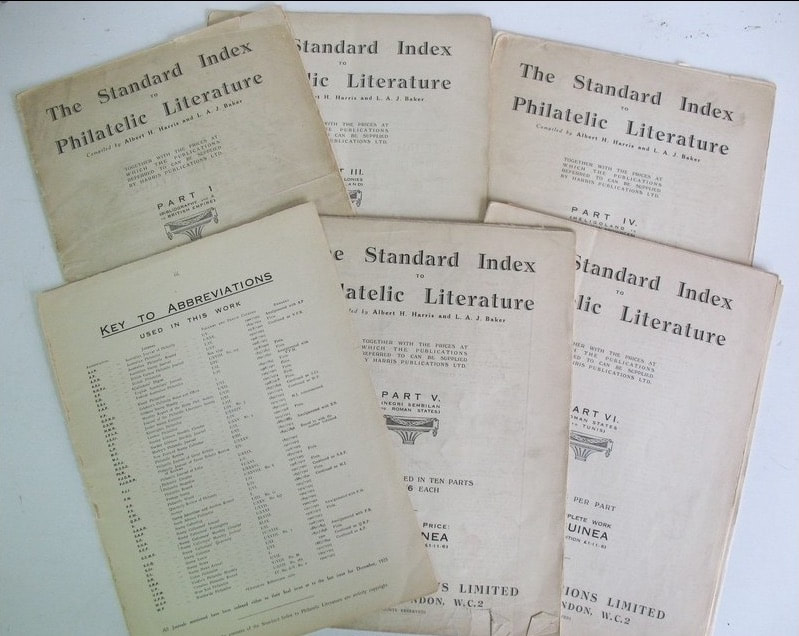 Individual Parts of Standard Index to Philatelic Literature (1926-32). Courtesy: Burkhard Schneider of Philabooks.